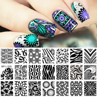 Nail Art Stamping Template BORN PRETTY Wave Texture Images Plate L005