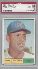 1961 Topps baseball card #12 Moe Thacker, Chicago Cubs PSA 8 NMMT high end!