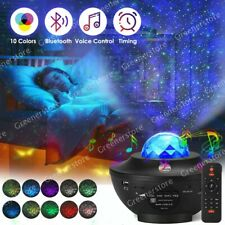 USB Starry Sky Galaxy Projector Bluetooth LED Light Lamp Ocean Wave Baby Room