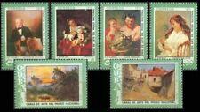 4CUBA  Sc# 1872-1877  MUSEUM PAINTINGS  CPL set of 6  1974  MH  mint