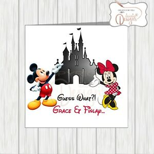 Personalised Card You're You Are Going To Disneyworld Disneyland Disney World