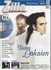 ZILLO Februar 2002 - Hauptthema Deine Lakaien
