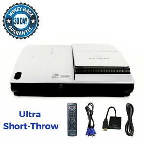 Ultra Short-Throw Hitachi CP-A52 3LCD Projector HD 1080i HDMI-adapter w/bundle