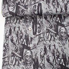 Alexander Henry Fabric Zombie! Charcoal PER METRE Walking Dead Walkers Zomb Zomb