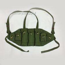 NEW ORIGINAL VIETNAM WAR CHINESE TYPE 56 AK CHEST RIG AMMO BANDOLIER POUCH