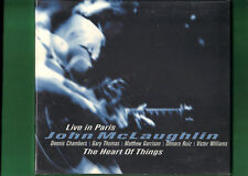 JOHN McLAUGHLIN - LIVE IN PARIS THE HEART OF THINGS CD DIGIPACK NUOVO SIGILLATO