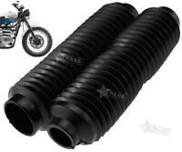 2x Front Fork Motorcycle Dust Cover Gaiters Gators Boots Black Shock Absorber