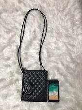 Chanel Cambon Ligne CC Quilted Leather Shoulder Bag Crossbody Black/Black