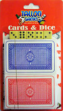 Tallon Card & Poker Set. 2 Decks of Playing Cards and 5 Dice (Great 4 Yahtzee!)