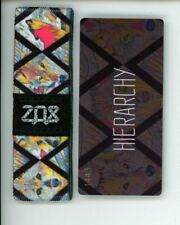 Medium ZOX Silver Strap HIERARCHY Wristband with Card Reversible