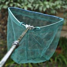 Folding Handle Fishing Landing Net 3 Section Extending Pole Aluminum Handle C8Z0