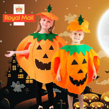 Adult Kids Novelty Pumpkin Outfit Halloween Fancy Dress Cosplay Party Costume UK