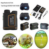 1500m 6/7/8x Zoom Telescope Laser Range Finder LCD Hunting Golf Distance Meter