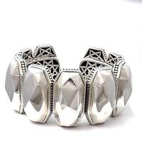 Designer Lagos Caviar Sterling Silver Rocks Cuff Hinged Bangle Bracelet