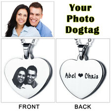 Personlized Couple Lover Gifts Custom Stainless Steel Necklace Dog Tag Pendants