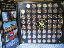 DANBURY MINT STATES QUARTER COLLECTION + Possessions Complete Mint