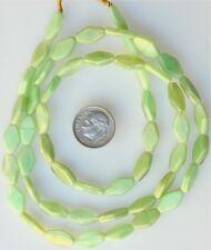 "26"" Strand of Tabular Czech Glass Beads That Glow Under Black Light"