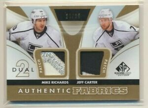 2012-13 SP Game Used Authentic Fabrics Dual Patch Richards Carter /25 LA Kings