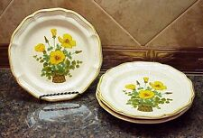 Vintage Mikasa Garden Club Petunias Salad Plate Set of Three (3) Nice