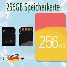 256GB Micro SD Karte TF Speicherkarte mit Adapter Neu Für Android Handy