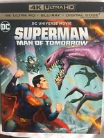 Superman -Man of Tomorrow 4K Ultra HD+Bluray+Digital Code with Art Cover