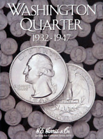 H.E. Harris Washington Quarter Coin Folder Book #1 1932-1947 #2688