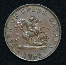 A Canada Province 1852 Bank Upper Canada ½ Penny Token B.720 PC5B2 Heaton