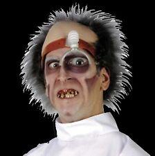 Psycho Surgeon DR KILLER DRILLER HEAD PIECE Mad Scientist Doctor Wig Topper Mask