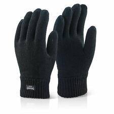 THERMAL THINSULATE KNITTED FULL FINGER GLOVES WINTER WARM WOOLLY MITTS UNISEX