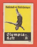 Orig.Guide / Extra PRG   XI.Olympic Games BERLIN 1936  -  DIVING + WATERPOLO  !!