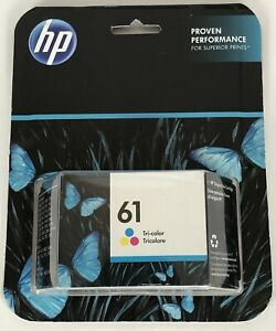 HP 61 Cyan Magenta Yellow Ink Cartridge CH562WN EXP October 2019. SHIPS FREE
