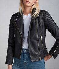 Allsaints All Saints Papin leather biker jacket black vintage 8 10 NEW BNWT £380