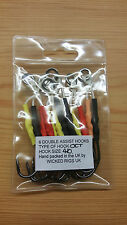 6 x 4/0 Double Assist Hooks in Mixed Colours(12 Hooks Total) + Free Gift