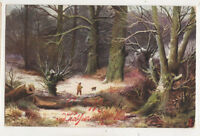 E Longstaffe Tuck Oilette 9006 Winter Scenes 1906 Greetings Art Postcard  US064