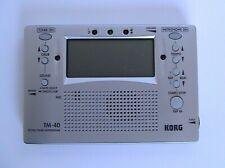 Korg Tm-40 Digital Tuner Metronome Combo New in a Box Designed by Korg Inc Japan