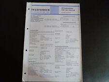 Schaltbild  Service Informationen Telefunken Hifi  Endverstärker STM  hifi /CM20