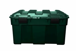 Whitefurze Green Garden Chest Trunk Storage Box Tool Box with Handles and Clips