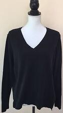 Banana Republic Hi Low Sheer Back Long Sleeve Black Sweater Knit Top Size S $128