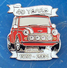 CLASSIC RED MINI 45 YEARS ANNIVERSARY METAL LAPEL PIN BADGE SPECIAL EDITION 2004