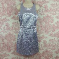 Womens Status Collection Dress Purple Satin Jrs Size L Stretchy