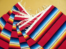 Serape Placemat ONWS19-Red Southwestern Southwest Mexican Style Fringed Set 6