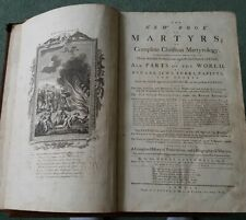 The New Book Of Martyrs Rare Antique 1785 Rev Henry Southeell