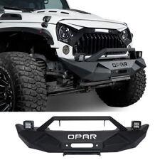 Blade Master Front Bumper w/ LED Fog Lights for 07-18 Jeep Wrangler JK&Unlimited