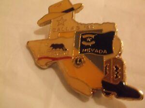 CR29) 1985 California Nevada Dallas Texas Cowboy Boot Lions Club Pin