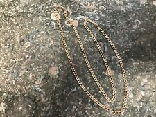 """10K Yellow Gold Curb  Link Chain Necklace Mens /Womens 25.5"""" Long"""