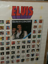 ELVIS PRESLEY  POSTER OF ALL ALBUMS HE EVER MADE  RCA POSTER VERY RARE 1970s