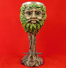 Pagan Tree Spirit Altar Goblet Eyes of the Forest Chalice Wiccan Witch Greenman