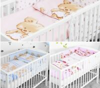 LUXURY BABY BEDDING SET 2 3 5 6 PCS BUMPER PILLOW DUVET FIT COT 120x60 NEW!