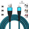 3/6/9FT Micro USB Type C IOS Fast Charger Data Cable For Samsung S8 S7 iPhone 6S