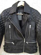 ALLSAINTS ESHER LEATHER BIKER JACKET Black  US  Size-0   NEW/$670
